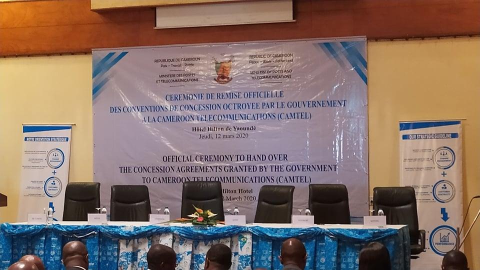 Cérémonie de remise des conventions à Camtel au Hilton Hotel de Yaoundé